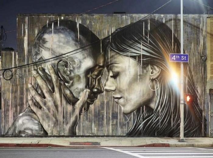 14 проявлений чувств любви в работах стрит-арт художников