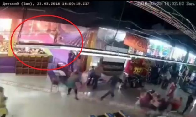 Видеофакт. Как начинался пожар в здании Торгового центра «Зимняя вишня» в Кемерове