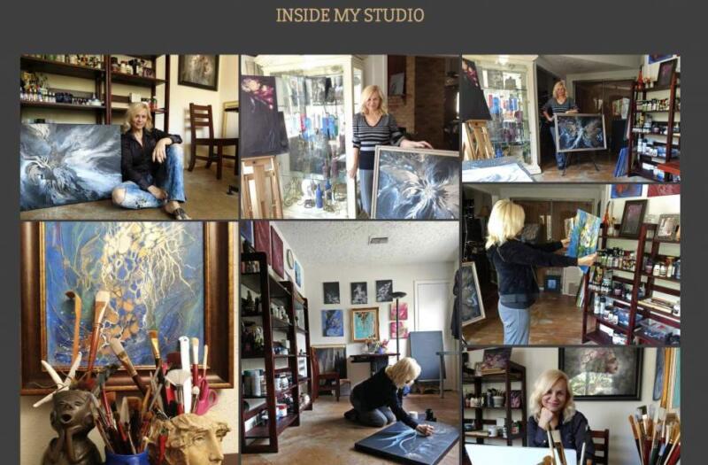 Sana Shaw художник в мастерской