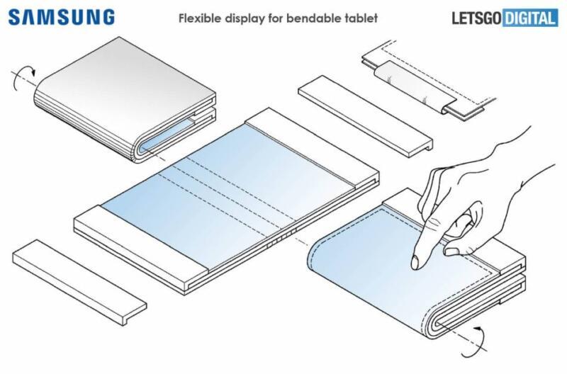 новый планшет сгибким екраном